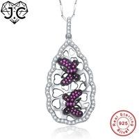 JC Per Il Regalo della signora Eccellente Black & Rubino Topazio A Forma di Farfalla Collana Ciondolo In Argento Massiccio 925 Fine Jewelry