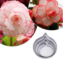 Stainless Steel Malus Flower Petal Cutting Mold Soft Paper Clay Making Shape Cutter Tools 4pcs/set