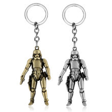 MQCHUN Jewelry Hot Movie Star Wars Keychain Metal Figure Storm Trooper Pendant Keychain Ring Darth Vader Mask Superhero Gift famshin high quality top 2018 star wars keyring light black darth vader pendant led keychain for man gift free shipping