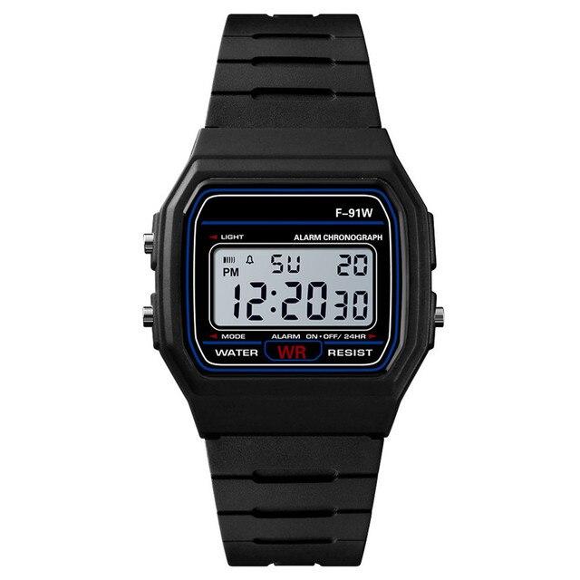 Luxury Black Digital Men Watches Fashion Silicone LED Women Men Watch Female Electronic Clock Reloj Mujer horloge mannen 4FN