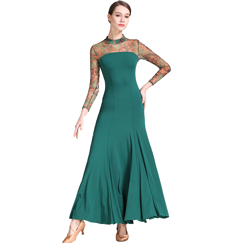Ballroom Dress Women Ballroom Dance Practice Modern Waltz Standard Dance Dress Ballroom Competition Dress S9032