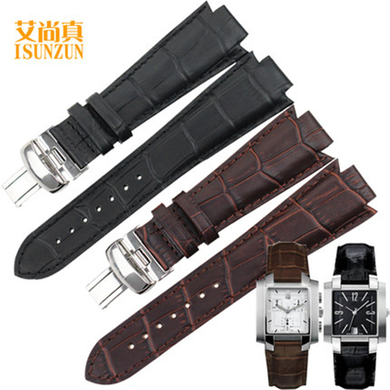 ISUNZUN Montre Bande Pour Tissot T60 Véritable En Cuir Montre Bracelet Pour Hommes Et Femmes Convexe 14mm Bande de Montre De Mode bracelets