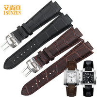 ISUNZUN Watch Band For Tissot T60 Genuine Leather Watch Strap For Men And Women Convex 14MM Watch Band Fashion Watchbands