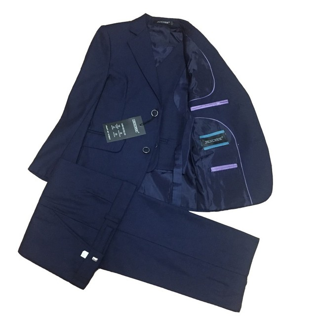 Boys Wedding suits Kids Navy suit Teenager Clothing sets for Boys Prom suit Blazer Vest and Trouser 3 pieces Tuxedos Dresssuit