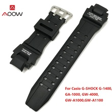 AOOW Black Replacement Band Strap Watch Accessories Silicone