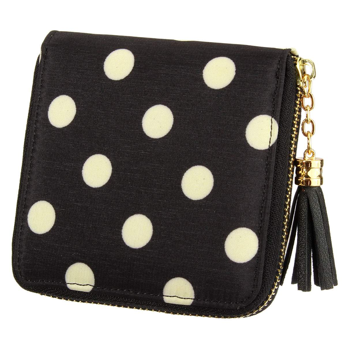 Osmond Women Wallets Leather Tassel Short Purses Ladies Bronzing Clutches  Dot Pattern Card Holder Small Wallet Mini Purse e514730a08