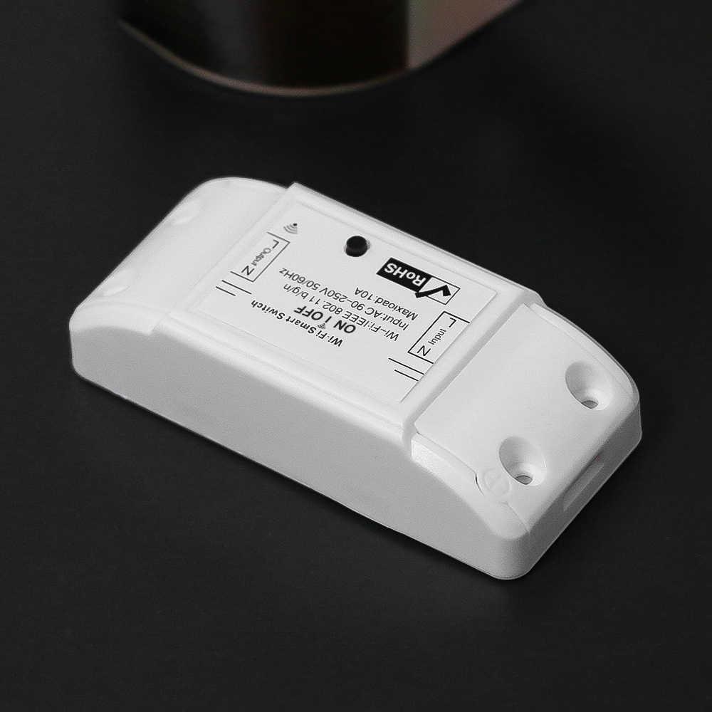 Kebidu Wifi interruptor de Control remoto inalámbrico Domotica Luz de automatización de casa inteligente módulo de relé controlador trabajar con Alexa