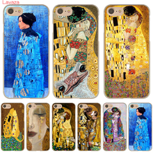 Фотография the kiss Gustav Klimt Painting Hard Case Transparent Cover for iPhone 7 7 Plus 6 6s Plus 5 5s 5c SE 4 4s