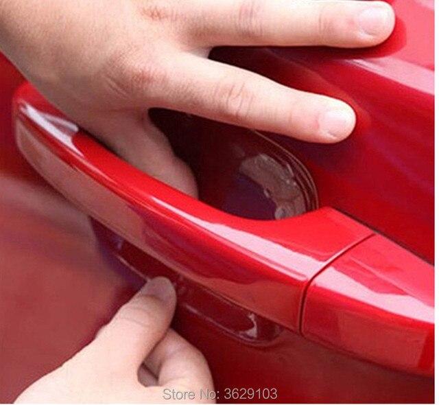 4pcs car door handle sticker protective film for ALFA ROMEO 147 159 ...