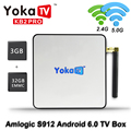 YOKATV KB2 Pro Caixa de TV Android 6.0 3G/32G Amlogic Octa S912 núcleo 4 K H.265 Decodificação 2.4G + 5.0G Dual Band WiFi Bluetooth Set Top caixa