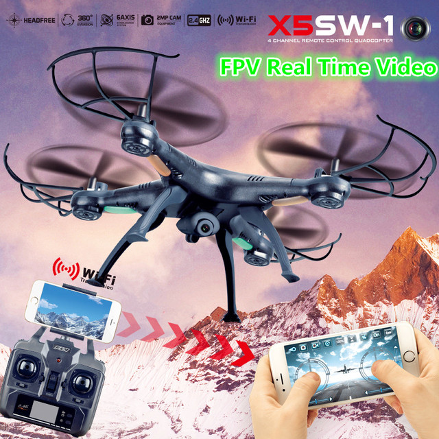 RC Drone with Wifi Com Camera HD X5SW X5SW-1 Real Time Profissional FPV Quadcopter Remote Control Helicopter Vs X8W X8HW X101
