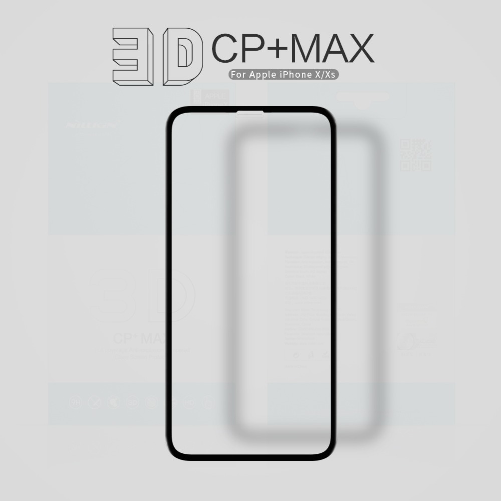 10 unids/lote NILLKIN increíble 3D CP + máxima cobertura completa nanómetro Anti explosión 9 H película de vidrio templado para iphone xs iphone x-in Protectores de pantalla de teléfono from Teléfonos celulares y telecomunicaciones on AliExpress - 11.11_Double 11_Singles' Day 1