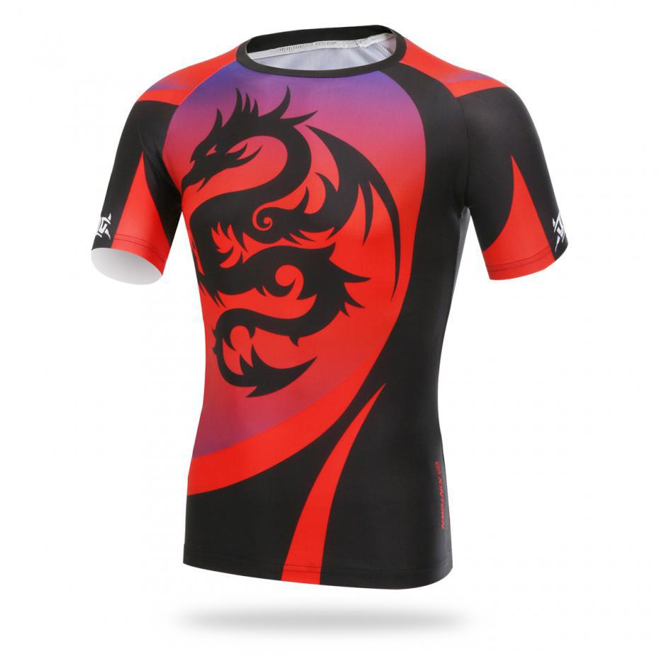 Men/'s Cycling Clothing Bicycle Long Sleeve Red Dragon Cycling Jersey Tops