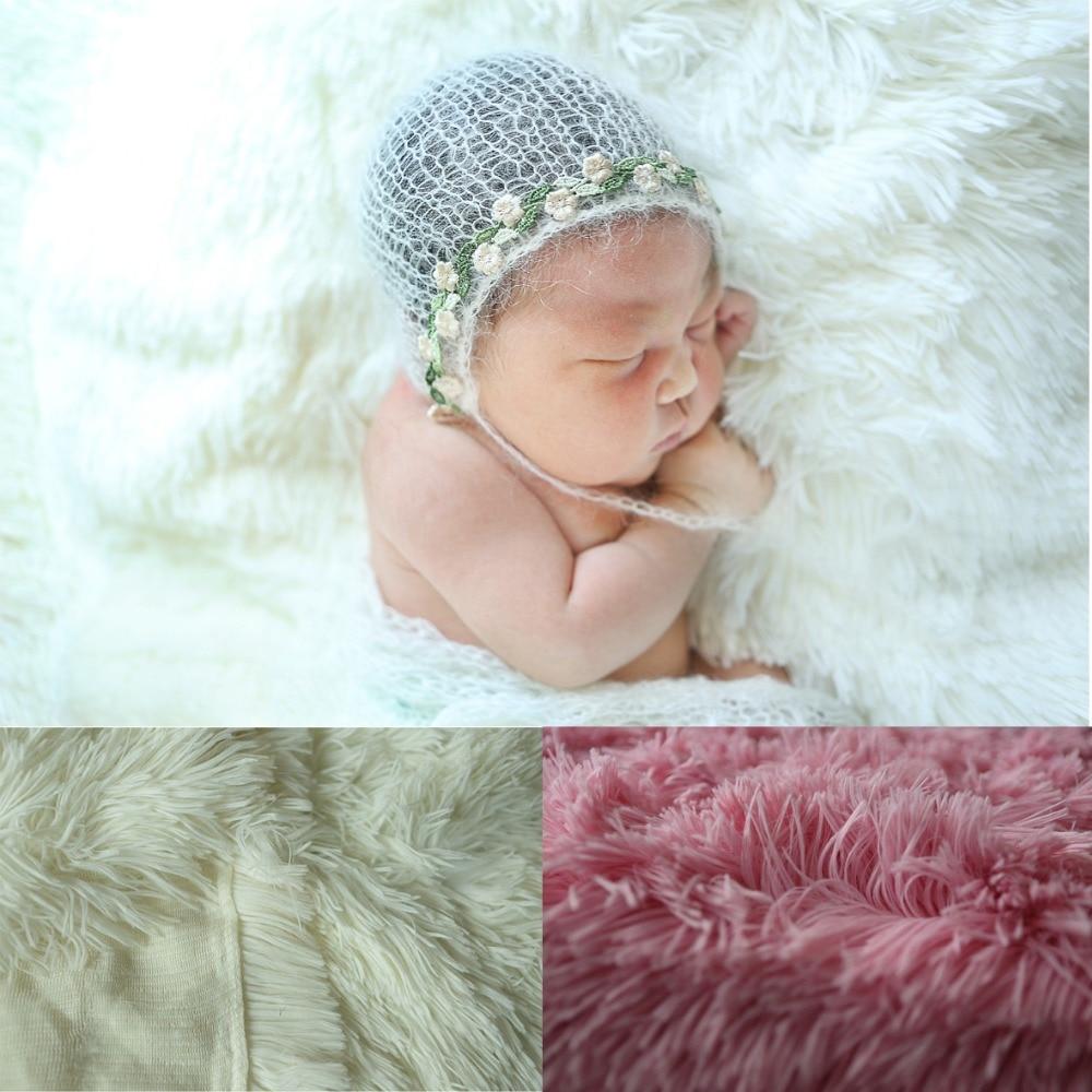 e85d79c0c8d Best buy 59in x 39in 150x100cm Newborn Props long Faux Fur Newborn Photo  Props Artificial Fur Baby Photography Basket StuFfeR backdrops online cheap