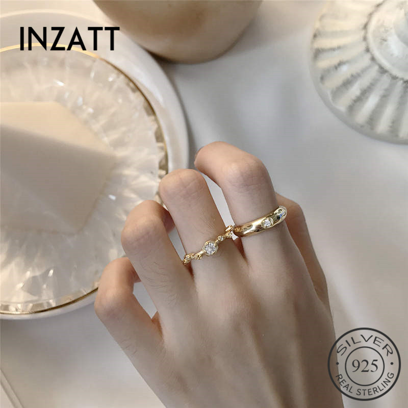 INZATT Real 925 Sterling Silver Minimalist Branch Zorcon Ring For Fashion Women Trendy Fine Jewelry Accessories 2019 Gift