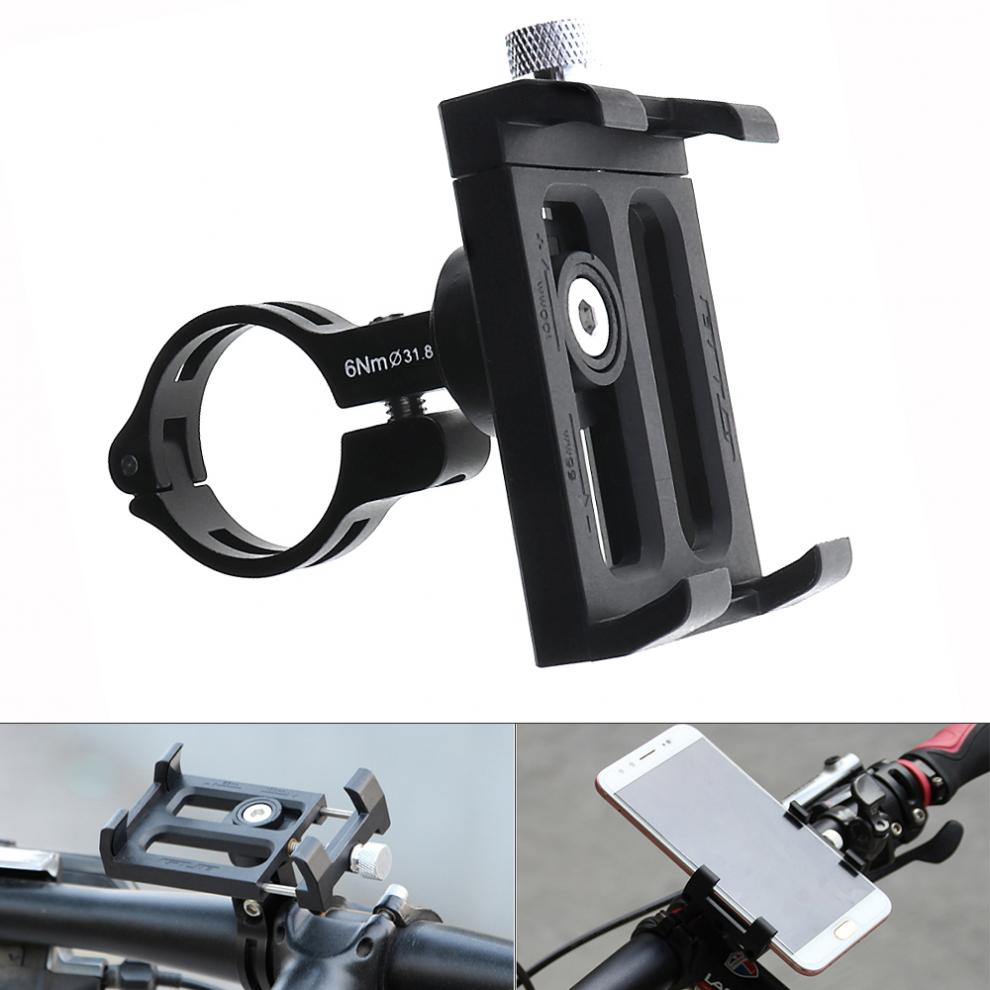 Aluminum Alloy Bicycle Universal Cell Phone Holder Motorcycle Handlebar Mount Handle Support For 3.5-6.2 inch Phone