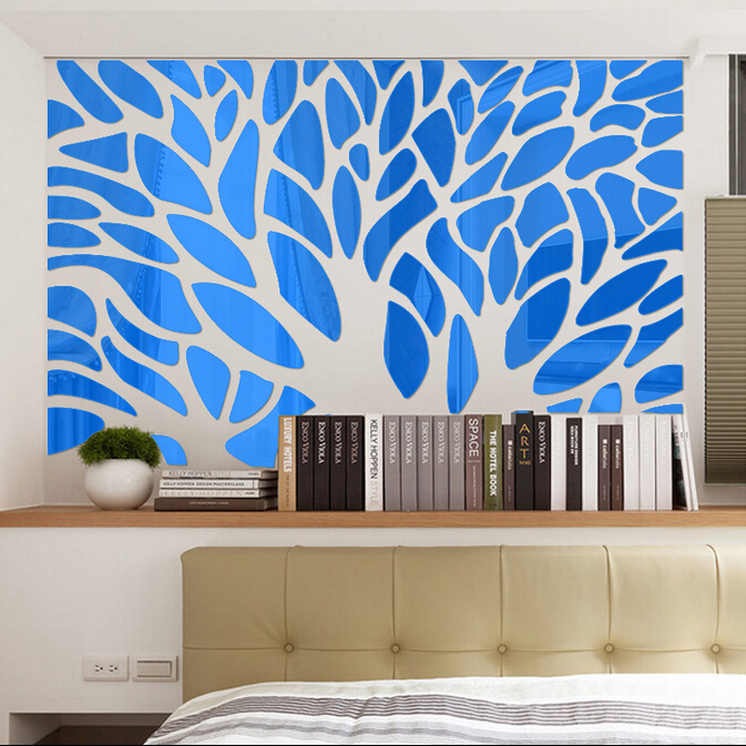Big Size forest trees mirror wall decor home Sofa decor, TV walldecor , Living room