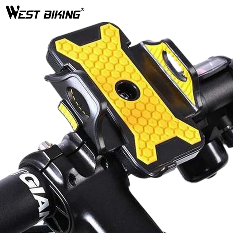 WEST BIKING Bicycle Phone Holder Universal MTB Mount Holder Adjustable Handlebar Bike Phone Stand Cycling Bicycle Phone Holder