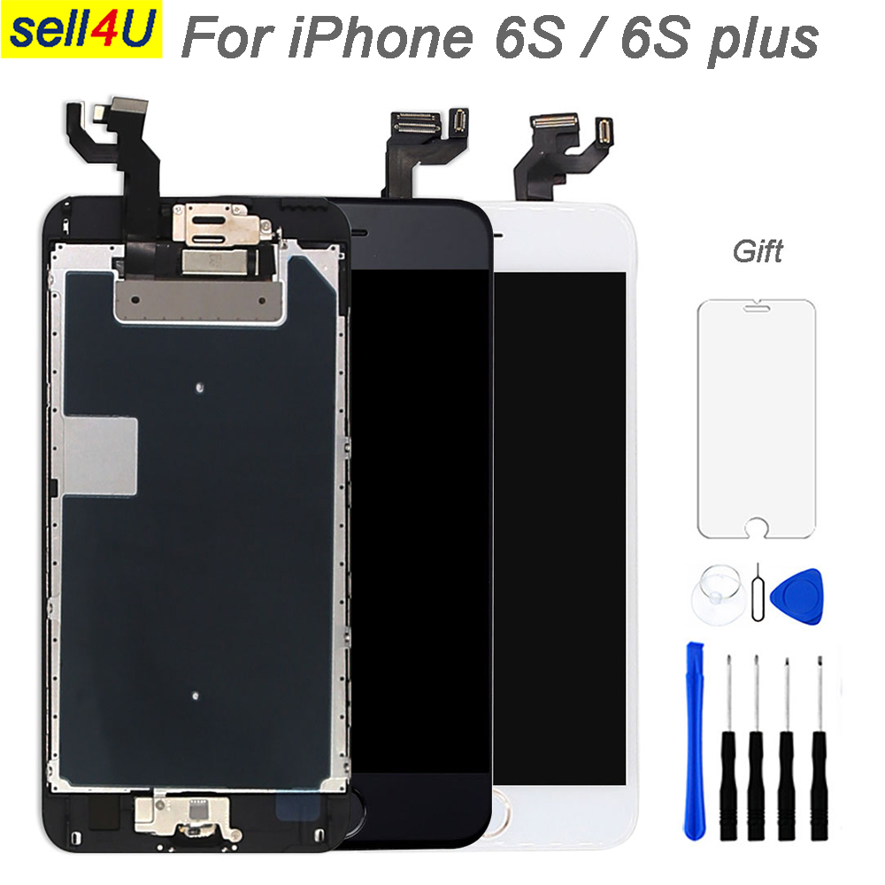 Full parts screen For iPhone 6S 6S plus LCD Display ,Touch Screen Digitizer Replacement ,pre-assemble camera+speaker+home button