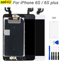 Full parts screen For iPhone 6S 6S plus LCD Display ,Touch Screen Digitizer Replacement ,with front camera speaker home button(China)