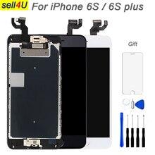 Voll teile Für iPhone 6S 6S plus LCD Display bildschirm, Touchscreen Digitizer Ersatz, mit frontkamera lautsprecher home button
