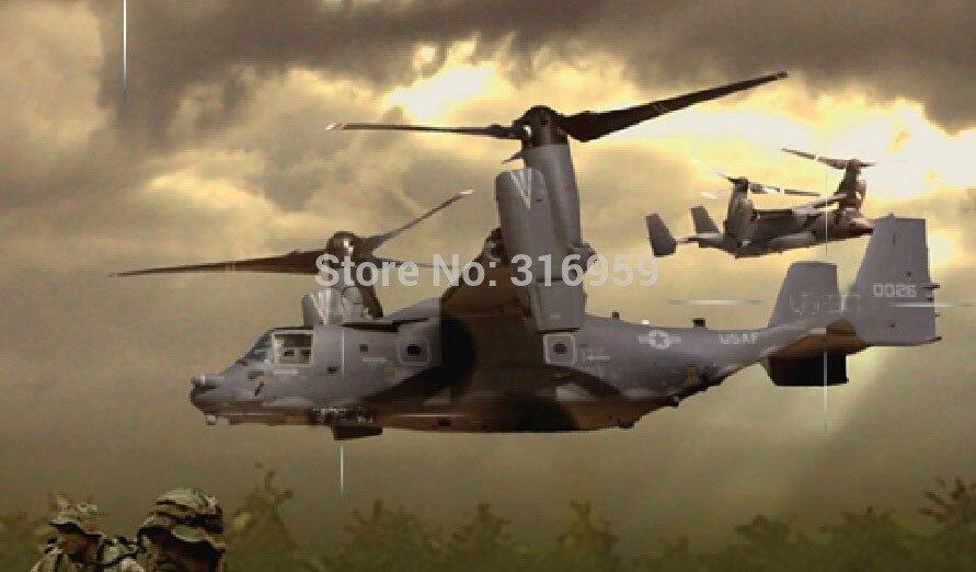 Avión teledirigido de la Fuerza Aérea de EE. UU., Osprey V22, 2,4G, con batería de giroscopio de León, RTF, juguetes electrónicos para niños, Hobby