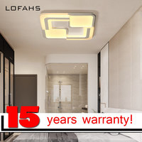 LOFAHS Modern LED Ceiling Lights For Living Dining Room Bedroom With Remote Control Luxury Square Acrylic
