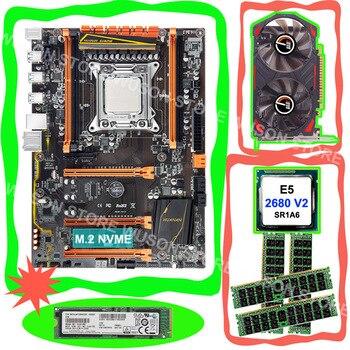 Discount motherboard with M.2 128G NVME SSD HUANAN ZHI X79 motherboard CPU Xeon E5 2680 V2 RAM 4*8G 1600 REG ECC GPU GTX750TI 2G