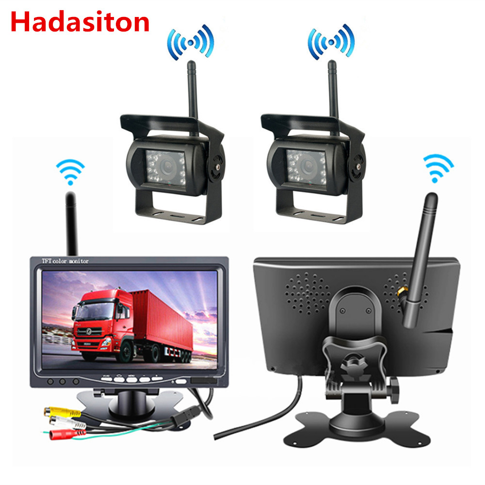 Wireless monitor 7 HD Car Monitor HD Rearview camera For RV Truck Bus Trailer Campers
