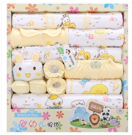 High Quality Newborn Clothing Gift Set 100% Cotton 18 Pieces