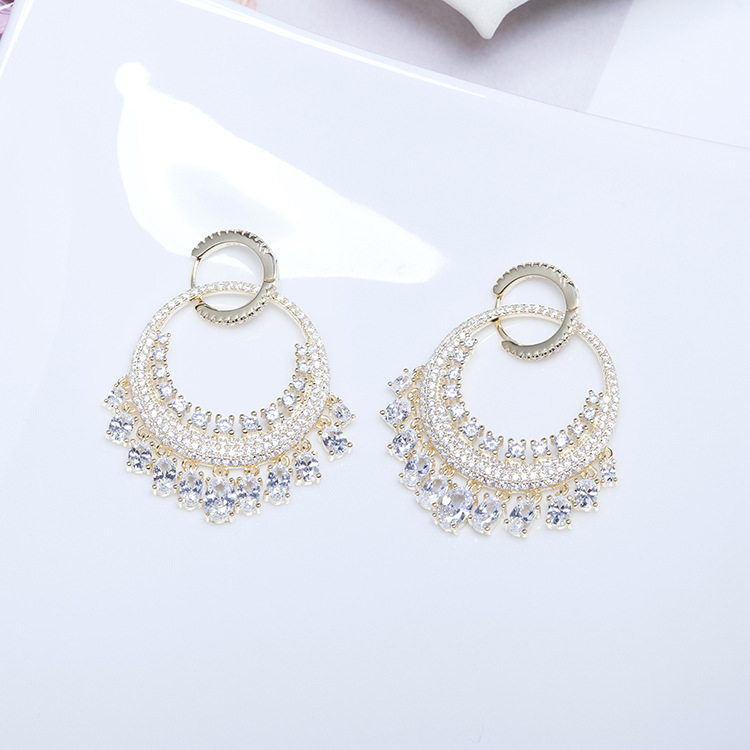 TYME New 925 Sterling Silver miniature inlaid zircon waterfall earring fashion jewelry stud earrig for woman