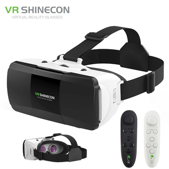 VR Shinecon Pro Virtual Reality 3D Glasses VR Google Cardboard Headset Box Glasses Virtual for 4-6.0 inch ios Android Smartphone