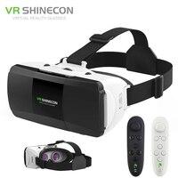 VR Shinecon Pro Virtual Reality 3D Glasses VR Google Cardboard Headset Box Glasses Virtual For 4