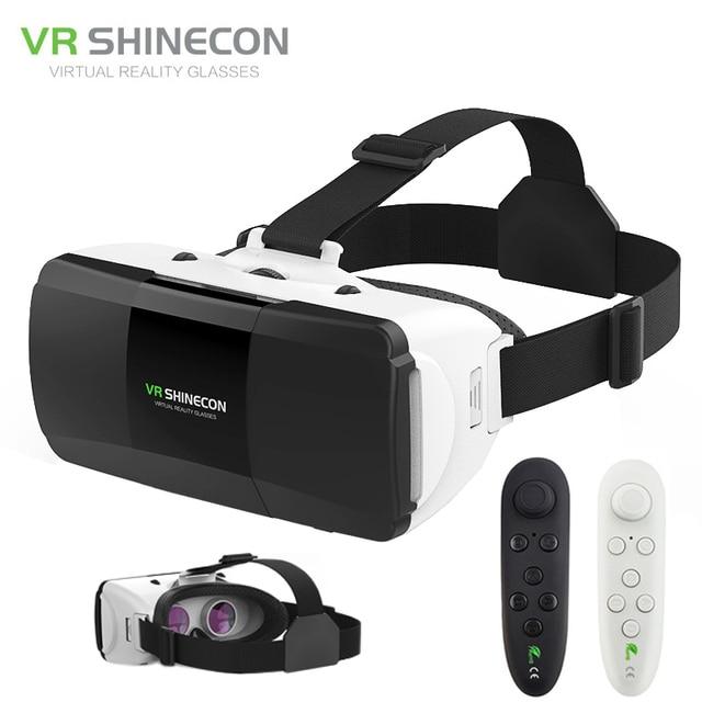 VR VR Shinecon Pro Óculos de Realidade Virtual 3D Google Papelão Caixa de  Fone De Ouvido 0b49c9e557