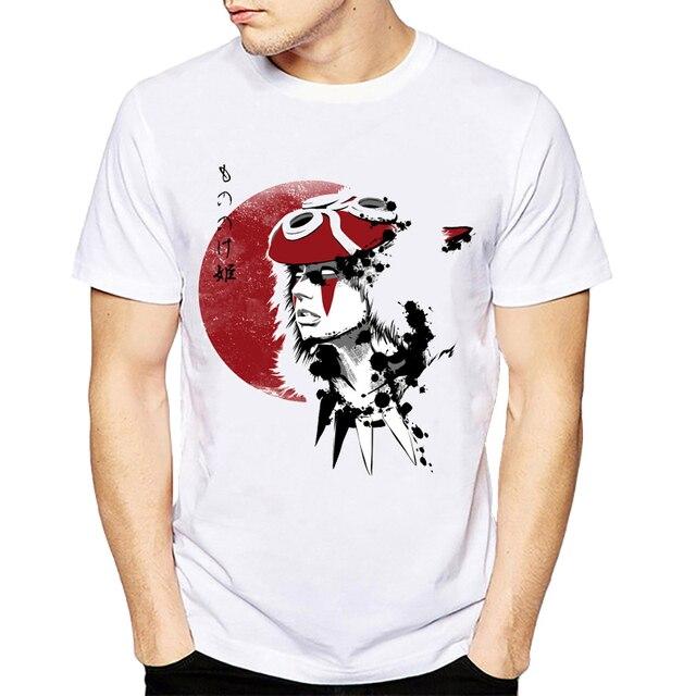 2018 Tshirt Mononoke Wolfs Blood&Swordsman T Shirt Ghibli Japanese Anime Design Creative T shirt Fashion Novelty Style Cool Tops-in T-Shirts from ...