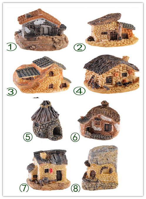 8 Styles Stone House Fairy Garden Miniature Craft Micro Cottage Landscape Decoration Doll House Micro Miniature DIY Resin Crafts8 Styles Stone House Fairy Garden Miniature Craft Micro Cottage Landscape Decoration Doll House Micro Miniature DIY Resin Crafts