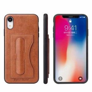 Image 1 - Capa para iphone 12 mini 11 pro xs max x xr 6 s 7 8 plus se 2020 capa etui luxo capa de couro acessórios coque escudo