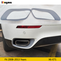 PP Muffler Pipe decorative frame For BMW X6 35i xDrive 2008 2013 year E71 tail PP base coat muffler frame 1 pair