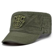 4efe89b5c60ab 2019 militar del ejército Gorras verde boinas Gorras en el aire Boina  visera sombreros para Hombre