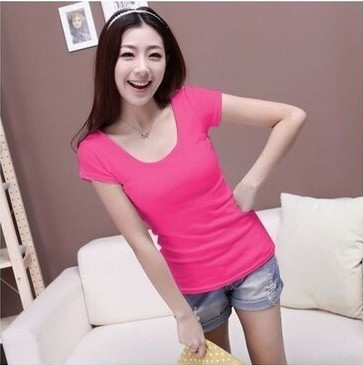 HTB1YT7kHXXXXXchaFXXq6xXFXXXe - Summer Casual T Shirt Women Tops Fashion Slim Female Short-Sleeve