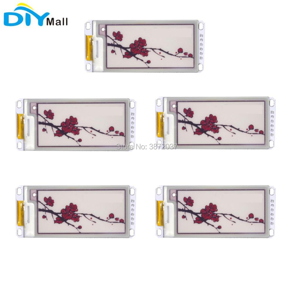 5pcs/lot 2.13inch Electronic Paper Display Module SPI Panel 212*104 for Arduino Raspberry Pi Smart Home
