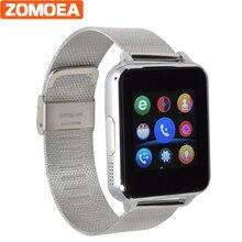 E6 Bluetooth Smart Watch для телефона Android спортивные Reloj inteligente Поддержка камера сим-карты Сталь кожаный ремешок PK DZ09 GT08 Q18