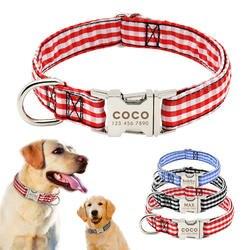 Маленький ошейник пользовательские нейлон ошейники персонализированные домашних собак ID Ошейники для малых и средних большая собака