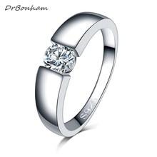 Envío libre de los hombres de color plata Anillo de bodas Anillos de Compromiso Zirconia Joyería Anel Mujeres Love Bague Anillos Mujer Regalo DR1742