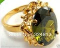 jewerly Selling > STUNNING Olive PERIDOT YELLOW Ring