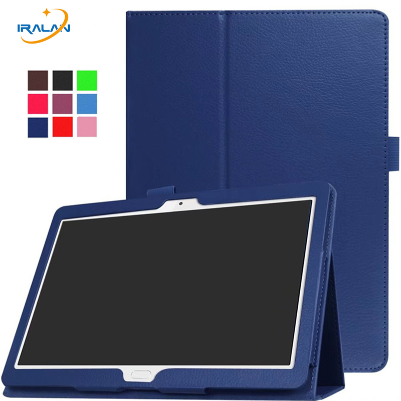 New Litchi Stand Leather Flip Cover for Huawei MediaPad M3 Lite 10 BAH-W09 BAH-AL00 10.1 inch tablet Protective case+film+stylus