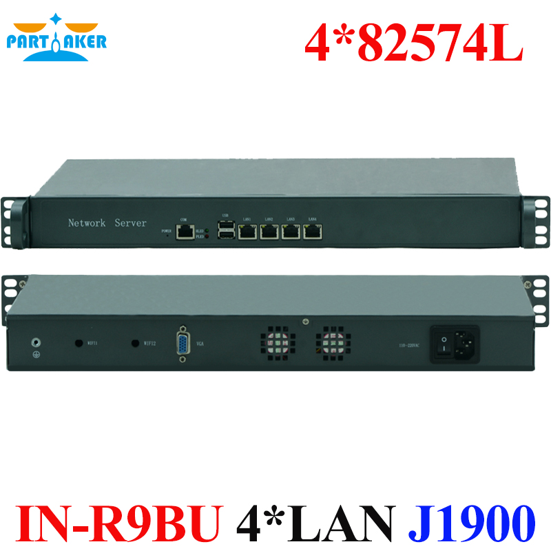 19 Inch 1U Type Router with Intel J1900 4 82574L Carrier Services Engine Server Firewall PARTAKER