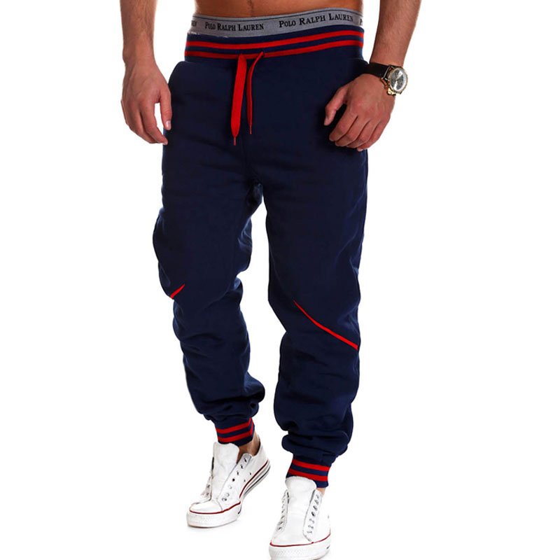 ยี่ห้อผู้ชายกางเกงฮิปฮอปฮาเร็ม Joggers กางเกง 2018 ชายกางเกงบุรุษ Joggers กางเกงของแข็งกางเกง