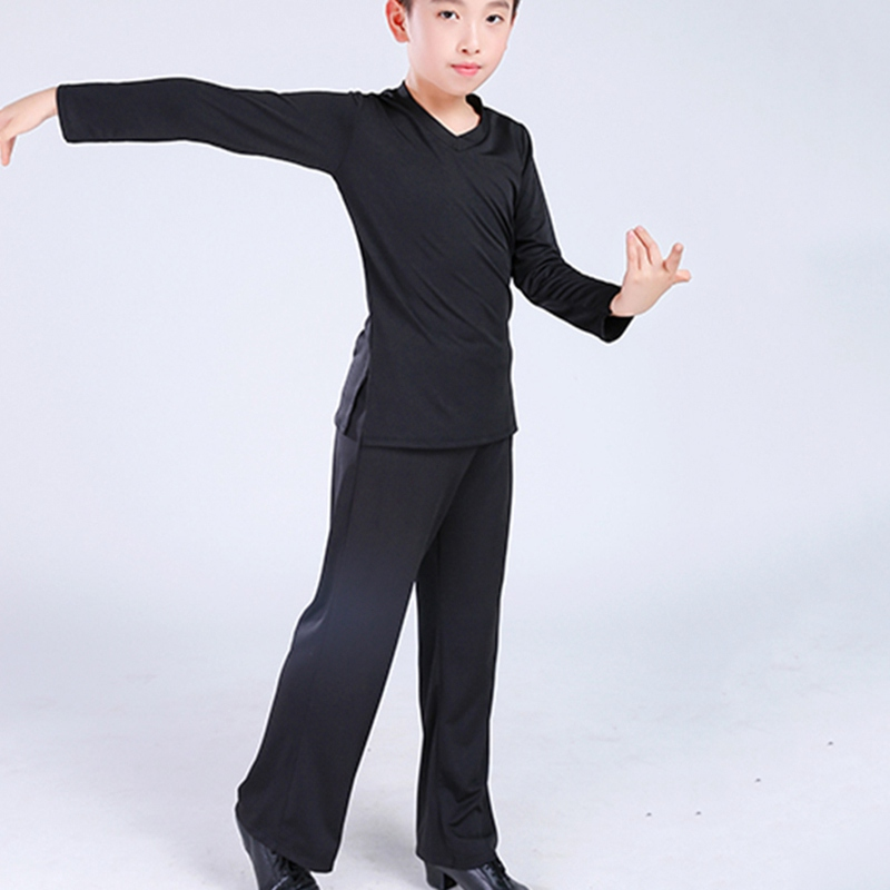 Image 5 - New Latin Ballroom Dance Costume Shirt Pants Boys Modern Ballroom Tango Rumba Samba Dancewear Latin Dancing Competition Clothes-in Latin from Novelty & Special Use