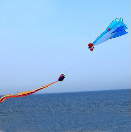 Frete grátis alta qualidade 2 m dolphin kite soft com linha punho ao ar livre brinquedo voador weifang kite factory polvo pipa roda hcx